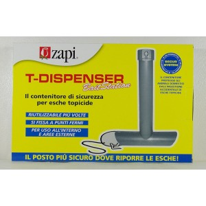 CONTENITORE DI SICUREZZA PER ESCHE TOPICIDE T-DISPENSER BAIT STATION